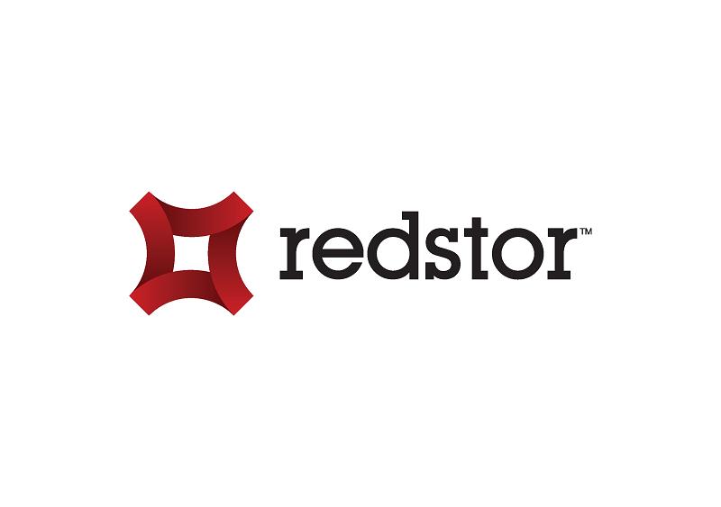 Redstor logo - black text